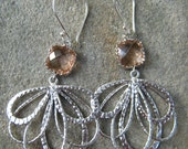 Water Lily Blossoms - Glass Charm Earrings