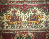 Hippie Tapestry Fabric - Bohemian Indian Paisley Elephant Pattern