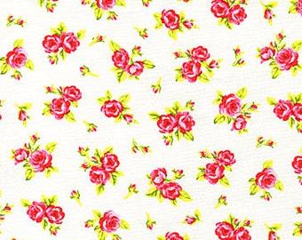 Tweet - Roses On White - From Timeless Treasures - One Yard - 8.50 Dollars