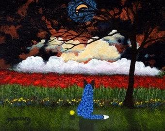 Blue Heeler Australian Cattle Dog Art PRINT Todd Young painting HOPE