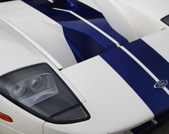 Ford GT - Hood - Automotive Art -  Home Decor