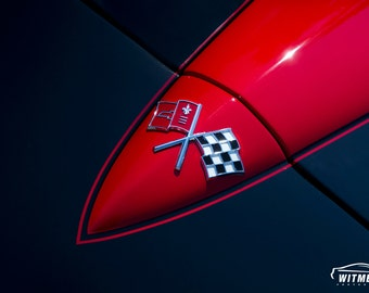 Corvette Hood - Automotive Art -  Home Decor
