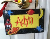 Fun outer space inspired personalized name sign