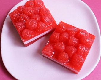 Raspberry Blitz Fruit Soap Bar - Raspberry Soap, Gift For Her, Best Friend Gift, Soap Bar, Novelty Soap, Dessert Soap, Food Soap, Kids Soap