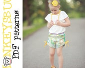 Rollick Ruched Shorts PDF eBook pattern INSTANT DOWNLOAD