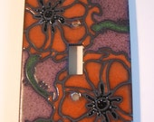 Deep Poppy Ceramic Switch Plate Single Toggle