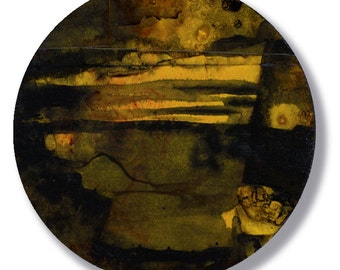Circle Abstraction Series ... No. 43 ... Original Contemporary Modern circle painting by Kathy Morton Stanion EBSQ