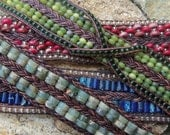 Braided and Beaded Leather Bracelet Tutorial PDF - INSTANT Download