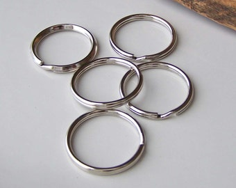 Key Rings, Etsy Beading Supplies, Jewelry Supplies, Split Rings, 5 Rings, 22mm Key Rings, Rings, Etsy, Etsy Supplies