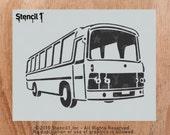 Retro Bus Stencil- Reusable Crafts & DIY Stencils- S1_01_43 -8.5x11- By Stencil1