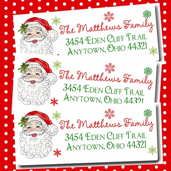 Return Address Labels Santa Claus Santa Claus Return Address