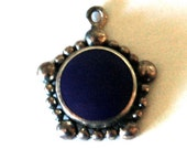 Vintage Lapis Charm or Pendant Sterling
