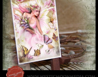 LIMITED...Spring Fairy Queen... ACEO / ATC.. Fantasy Picture...Sovereign of Spring... Flowers and Butterfiles