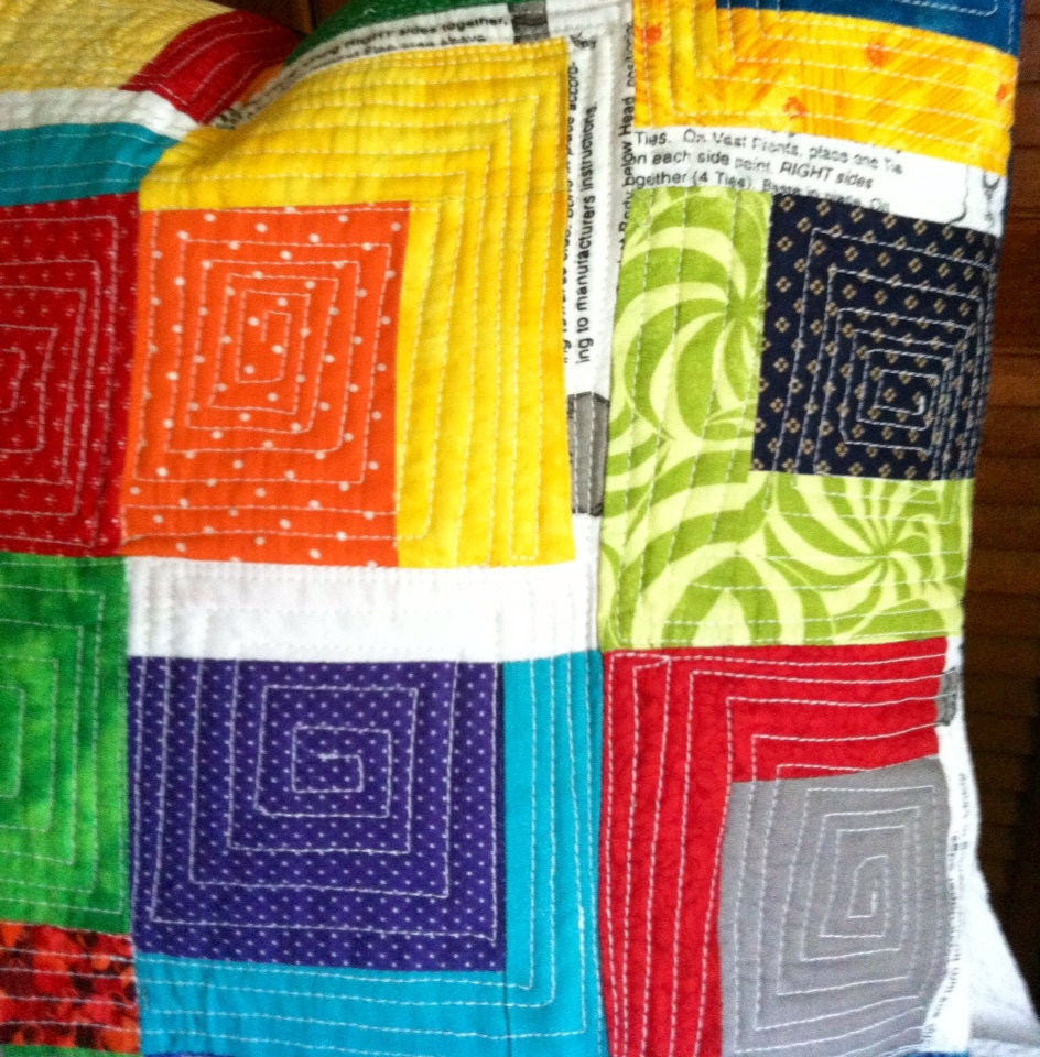 Modern Quilted Pillow Cover Cushion Cover Log