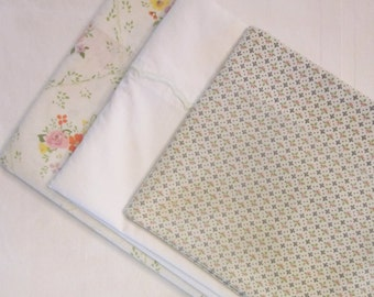 Three Vintage Pillowcases - Assorted Pillowcases - For Sewing/ Crafting