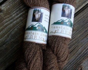 Alpaca Yarn Natural Dark Rose Grey Worsted Weight Knitting Crochet 4 Ounces