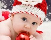 Christmas Newborn Baby Girl Hat Beanie