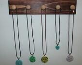 Wood Jewelry Holder Framed Organizer Earring Holder Necklace Bracelet Ring Storage