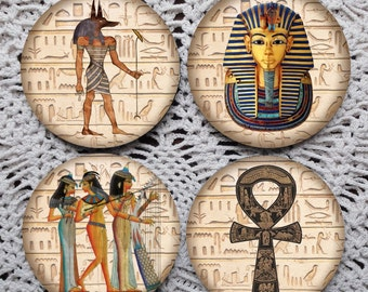 Walk Like an Egyptian -- Ancient Egypt Hieroglyphics Mousepad Coaster Set