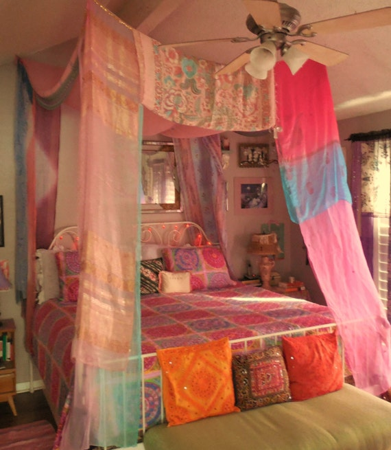 Bohemian gypsy bed canopy for Home decor nepal