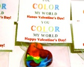 Valentine's Day Crayons - Favor Heart Crayons Classroom Pack - Recycled Rainbow Crayons-MINI Heart Valentines Day Recycled Rainbow Crayon Cl