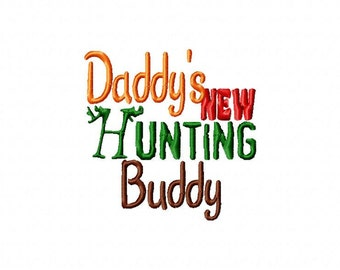 Daddy's Hunting Buddy Princess Embroidery Machine Design Patterns Digital Download