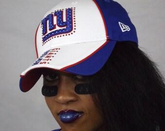 NY Giants Football cap Swarovski Crystal
