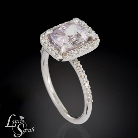 Light Pink Sapphire Engagement Ring in 14kt by LaurieSarahDesigns