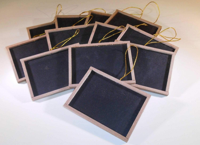 12 mini chalkboards with wood frame 3 x 4 blackboard - Wood Framed Chalkboard