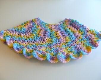 SALE - Crochet Poncho - Girls Size 1 - 2