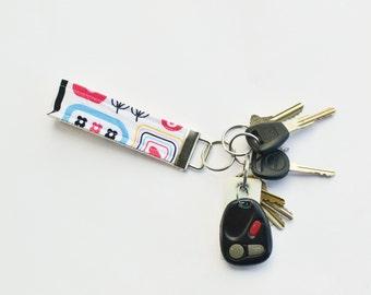 Key Chain Fabric Key Fob Moxie Chatterbox