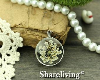 1pcs High Quality Handmade Glass Wire Wrapped Charm / Pendant (Flower) -- HGC301M