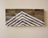 Directional - Modern Industrial - Large Reclaimed Wood Artwork - industrial signage - chevron