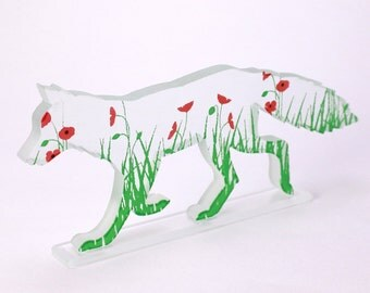 Poppy Fox Glass Sculpture