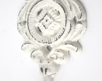 Shabby Cottage Chic Cast Iron Scroll Single Hook