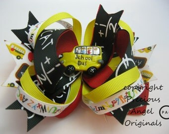 ABC's & 123's Loopy Layered Back to School Hair Bow