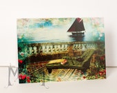 Greeting card - Ship and Chaise - Whimsical Mosaic Collection