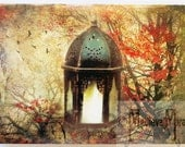 Greeting card - Autumn Lantern - Whimsical Mosaic Collection
