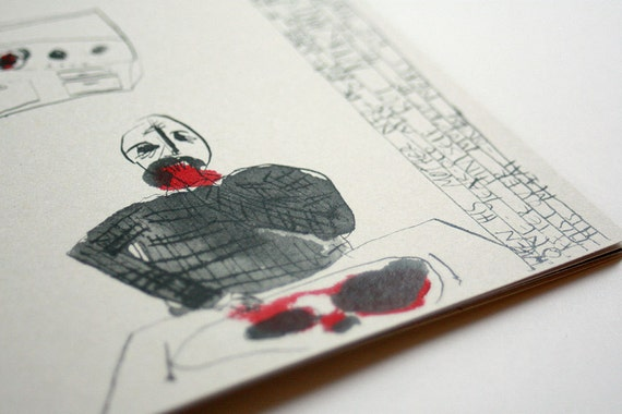 Three Very Gruesome Love Stories - a collection of hand coloured comics / zines