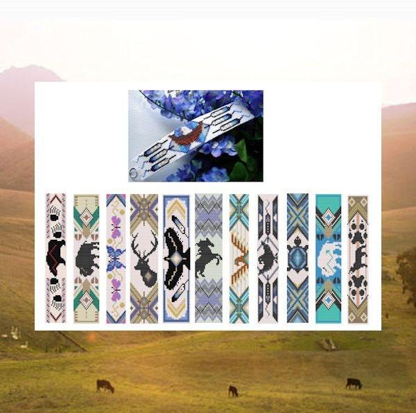 Bead Patterns Big Book Of Native Totem Cuffs Bracelet Loom