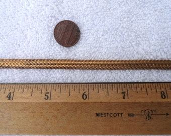 6 Feet of Vintage Brass Chain/Band, 7mm Width, Textured Edges