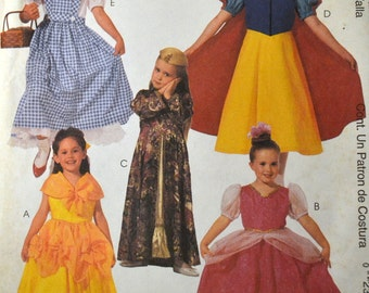 Sewing Pattern McCall's 2850 Girls'  Princess Costumes Size 4-5  Uncut Complete FF