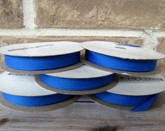 25 yards of 3/8 Electric Blue Ribbon for headbands, bows, korkers and hair clips