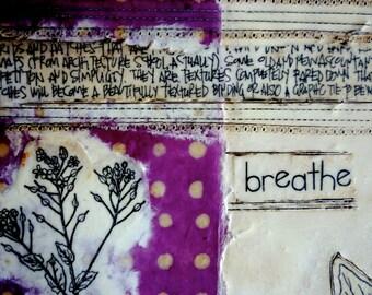 original encaustic painting-  Breathe