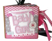 Welcome Baby Girl Scrapbook - New Baby Girl Photo Album -  Paper Bag Album