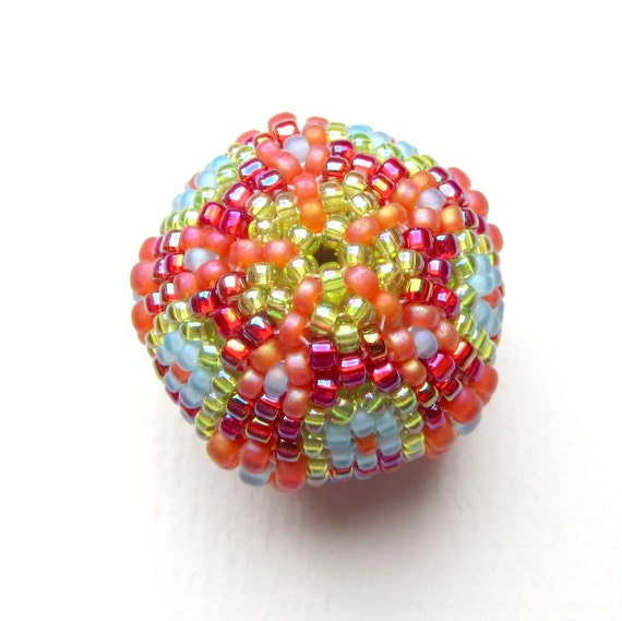 Sleek Beaded Bead Kit 25mm, Bright Orange, Lime, Sky and Red