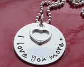 I love you more necklace Love You More Necklace Anniversary Gift Sterling Silver Jewelry Ready to ship