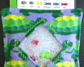 I Spy Bag - Mini with Sewn Word List and Detachable Picture List- Turtles