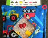 I Spy Bag - Mini with SEWN Word List and Detachable PICTURE LIST- Construction Trucks