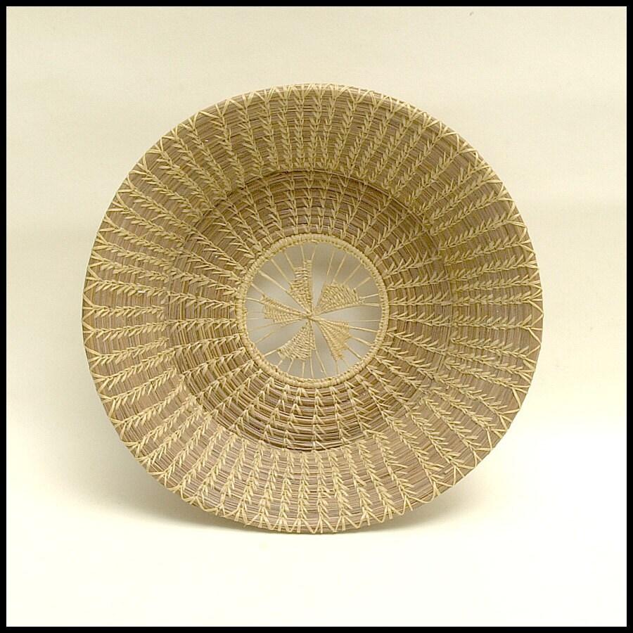 Handmade Pine Needle Baskets : Handmade pine needle basket prairie farm house